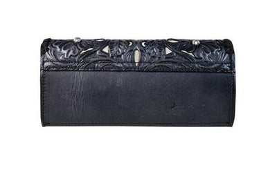 Tooled Leather Filigree Clutch