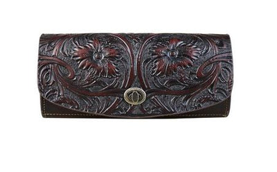 Tooled Leather Clutch