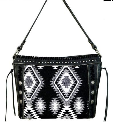 Aztec Denim Purse Collection - Ropes and Rhinestones