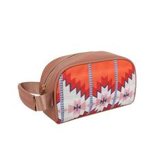 Aztec Red Orange Travel Pouch