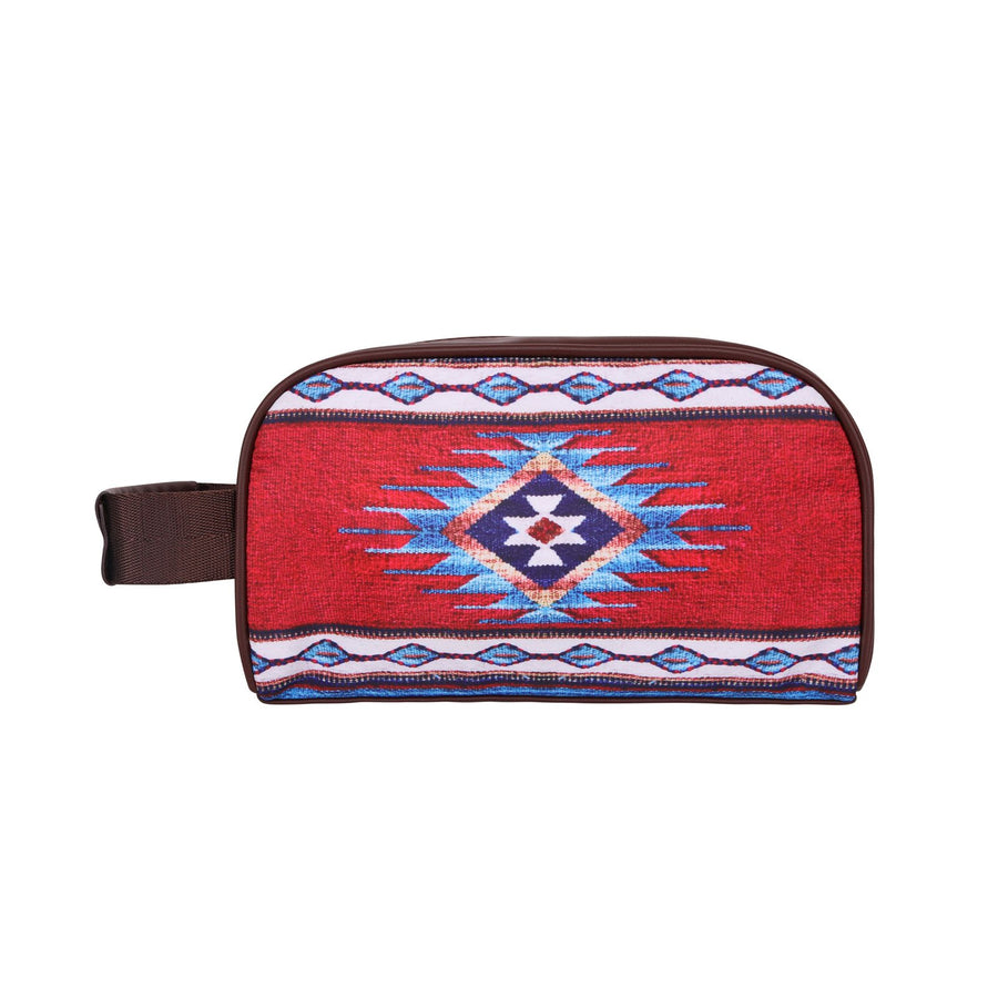 Aztec Red Blue Travel Pouch