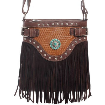 Fringe Cross Body Bag - Ropes and Rhinestones