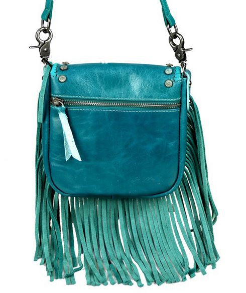 Studded Fringe Cross Body Purse