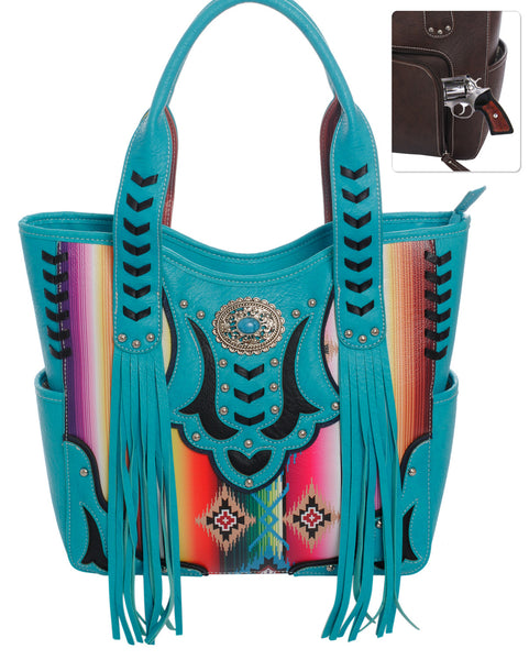 Serape Fringe Purse
