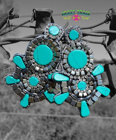 Jessie James Turquoise Earrings