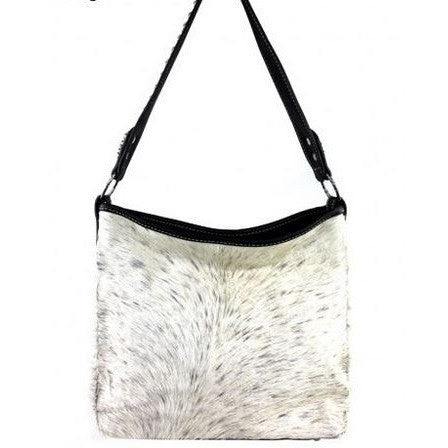 Embossed Cowhide Purse Single Strap - Ropes and Rhinestones
