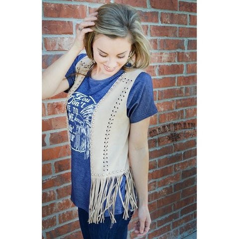 Turnpike Tan Studded Vest