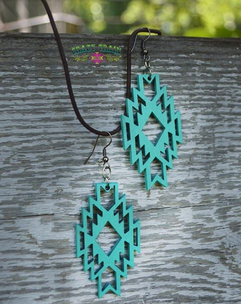 Amarillo Aztec Earrings - Ropes and Rhinestones