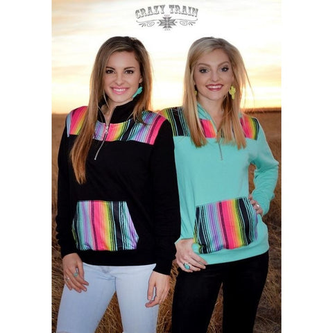 Pony Express Serape Pull Over