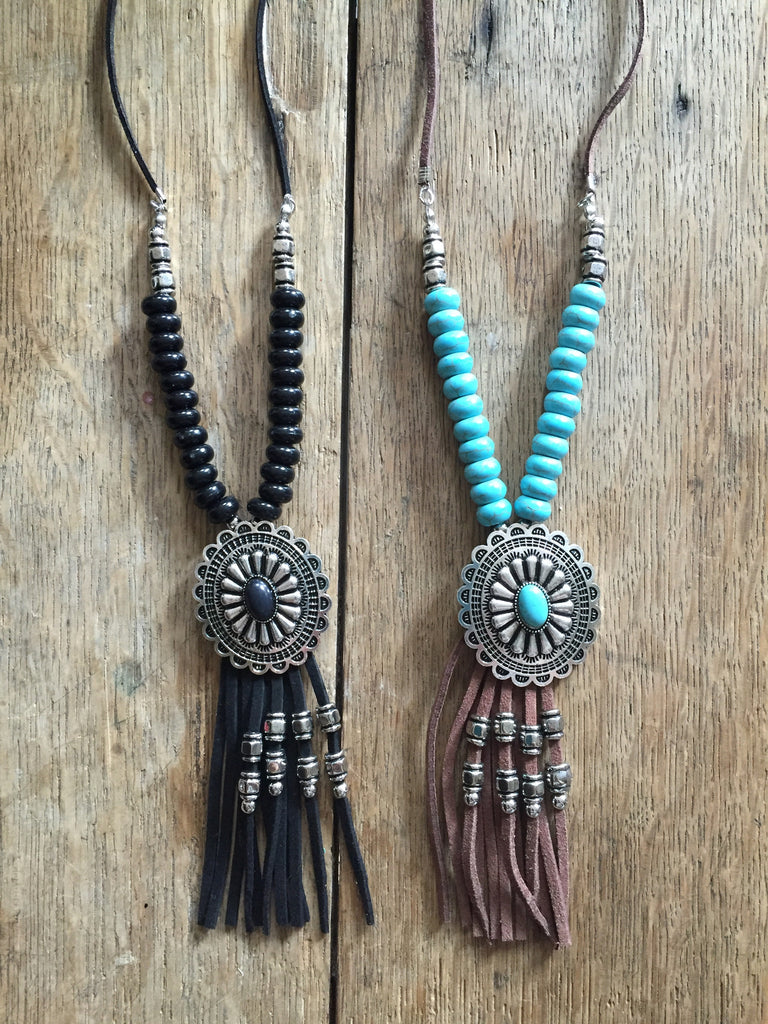 Canyon Concho Necklace - Ropes and Rhinestones
