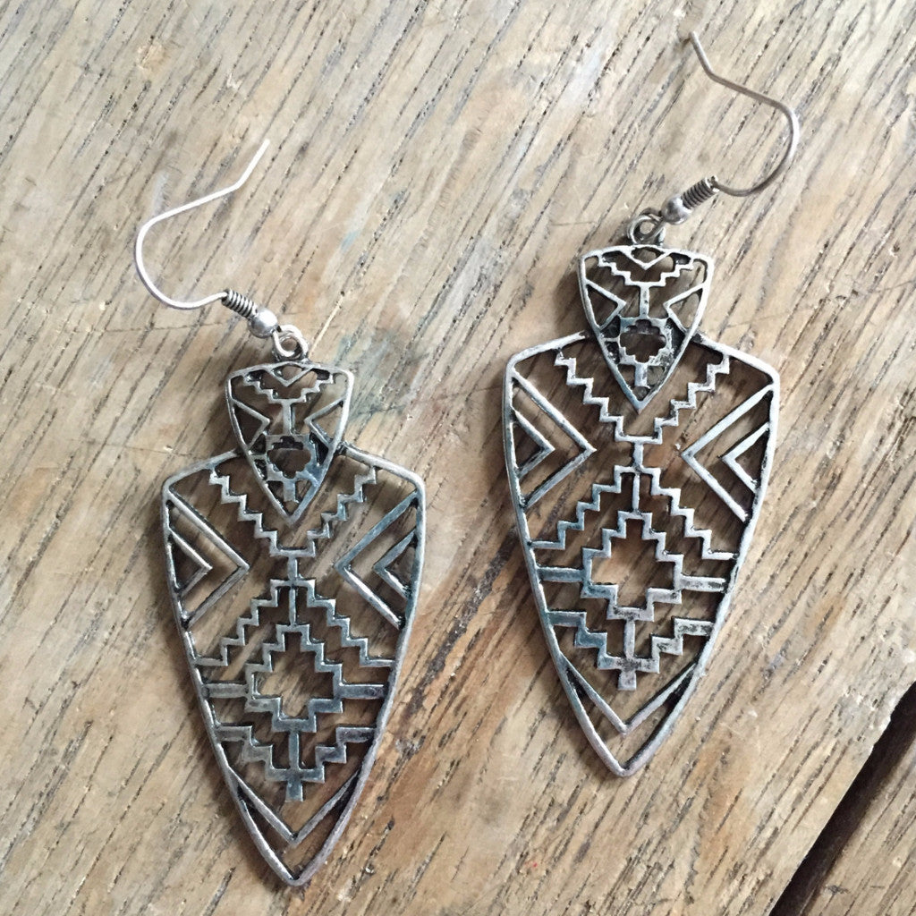 Aztec Arrow Earrings - Ropes and Rhinestones