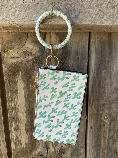 Key Chain Wristlet Cow Skull or Cactus