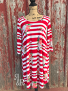 Cow Skull Stripe Dress - Ropes and Rhinestones