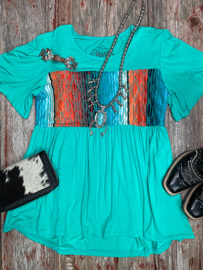 Turly Serape Aztec Top