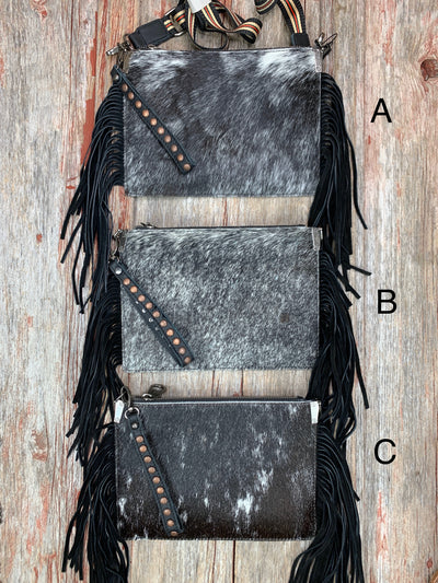 Cowgirl Cowhide & Fringe Purse