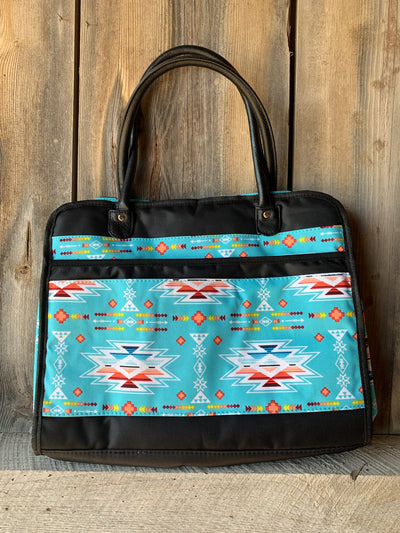 Southern Aztec and Serape Travel Tote Bag