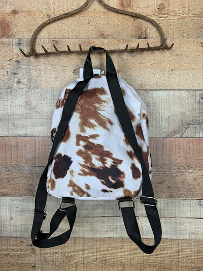 Cow Print Mini Backpack