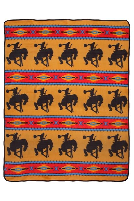 Western Fleece Lodge Blanket