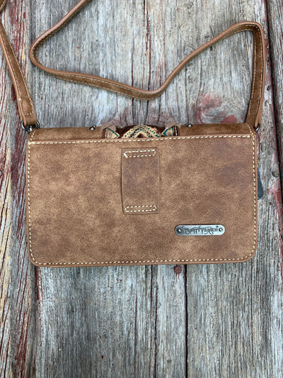 Aztec Stitched & Studded Belt/Cross Body Purse