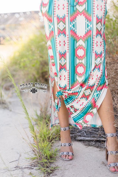 Maxed Out Aztec Maxi Dress