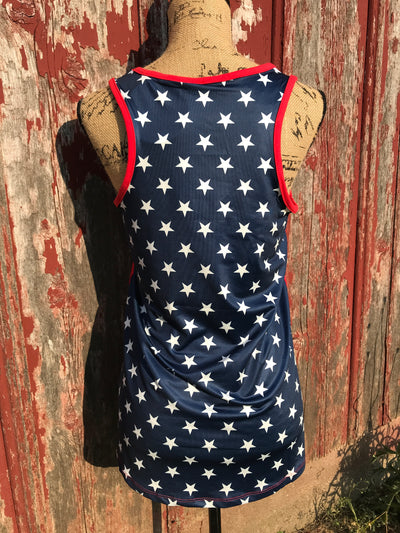 Red White Blue Star Tank Top