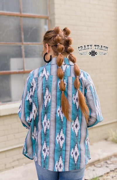 NFR Worthy Aztec Snap Shirt