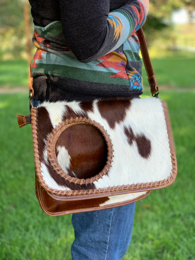 Fold It Cowhide Crossbody Purse