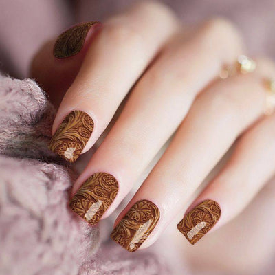 Blazin Saddles Tooled Leather Nail Strips