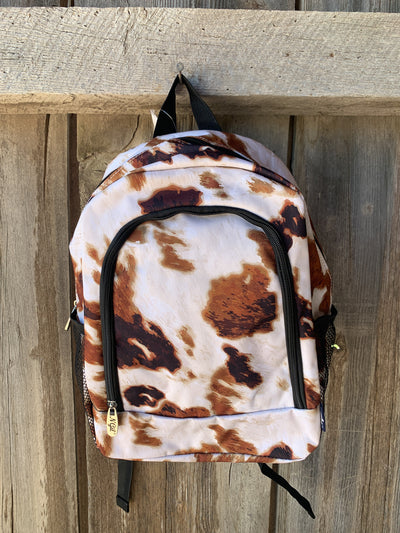 Cow Print Medium Backpack