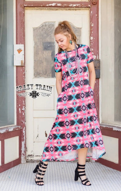 Magnolia Aztec Maxi Dress