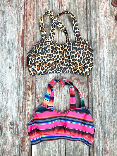 Criss Cross Serape or Leopard Bralette