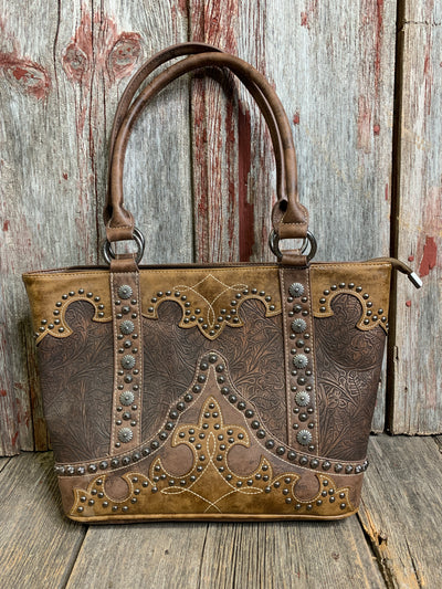 Cowboy Boot Overlay Purse - Ropes and Rhinestones