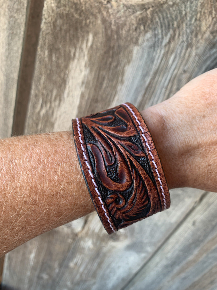 Tooled Leather Western Bracelets