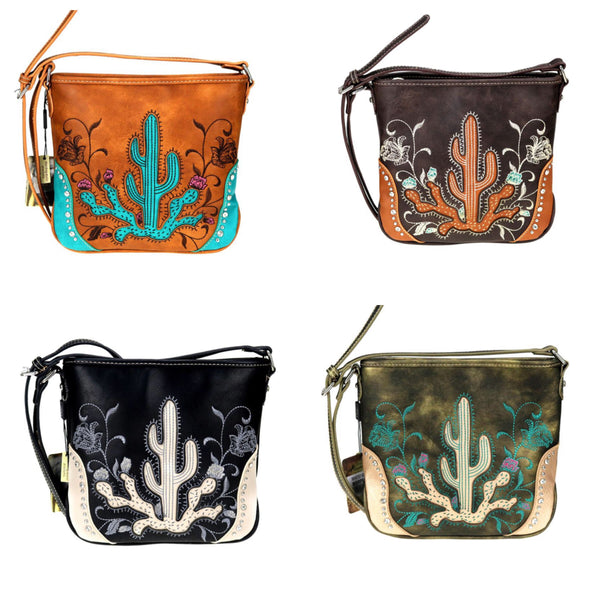 Cactus Embroidered Purse - Ropes and Rhinestones