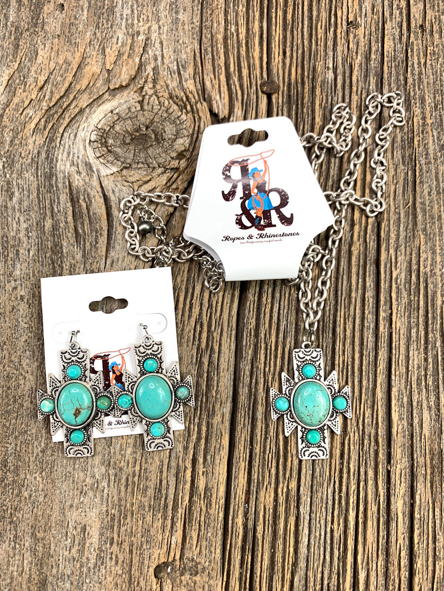 Aztec Turquoise Earrings