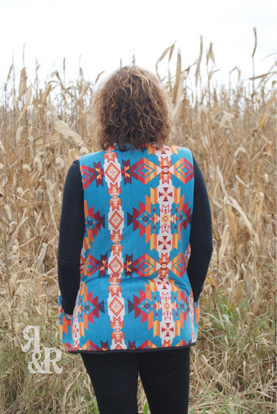 Aztec Fleece Lined Vest