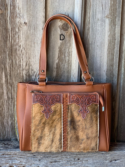 Cowhide Front Pocket Tote