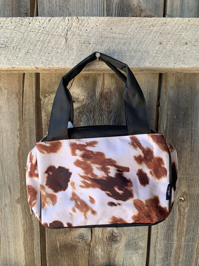 Cow Print Double Handle Lunch Bag
