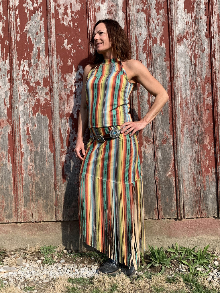 Serape Fringe Top