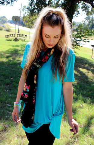 Turquoise Knot Top