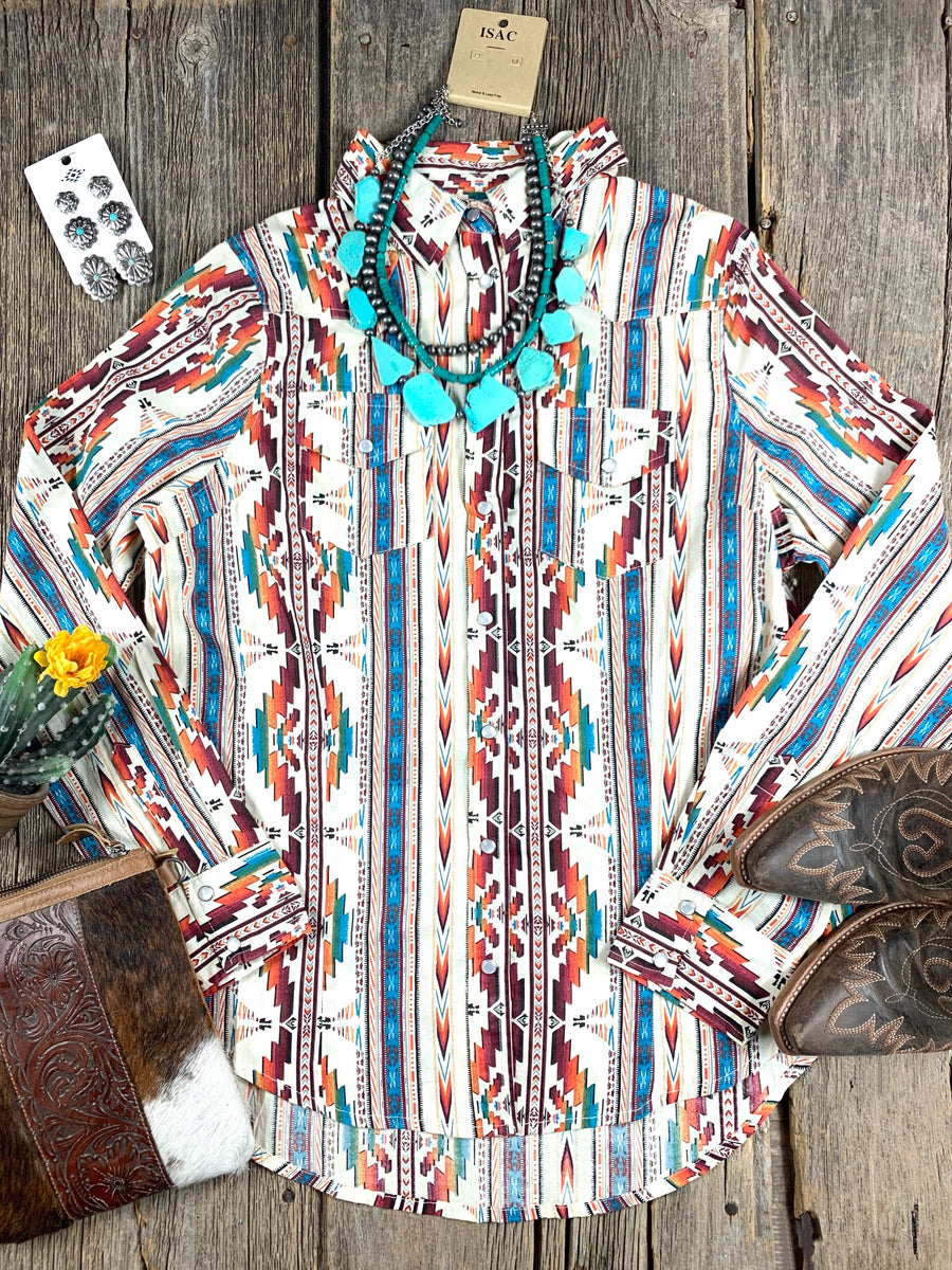 Aztec Envy Snap Shirt