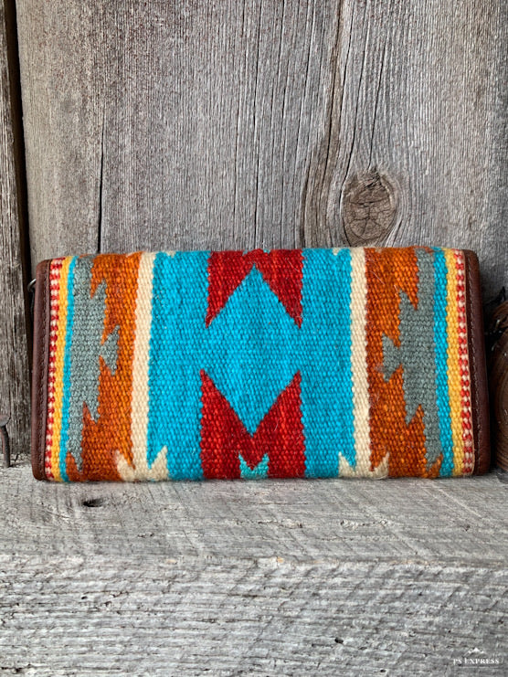 Sunset Saddle Blanket Cross Body Wallet