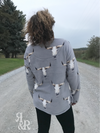 Cow Skull Pull Over - Ropes and Rhinestones