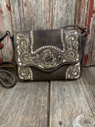 Western Embroidered Filigree Cross Body Purse