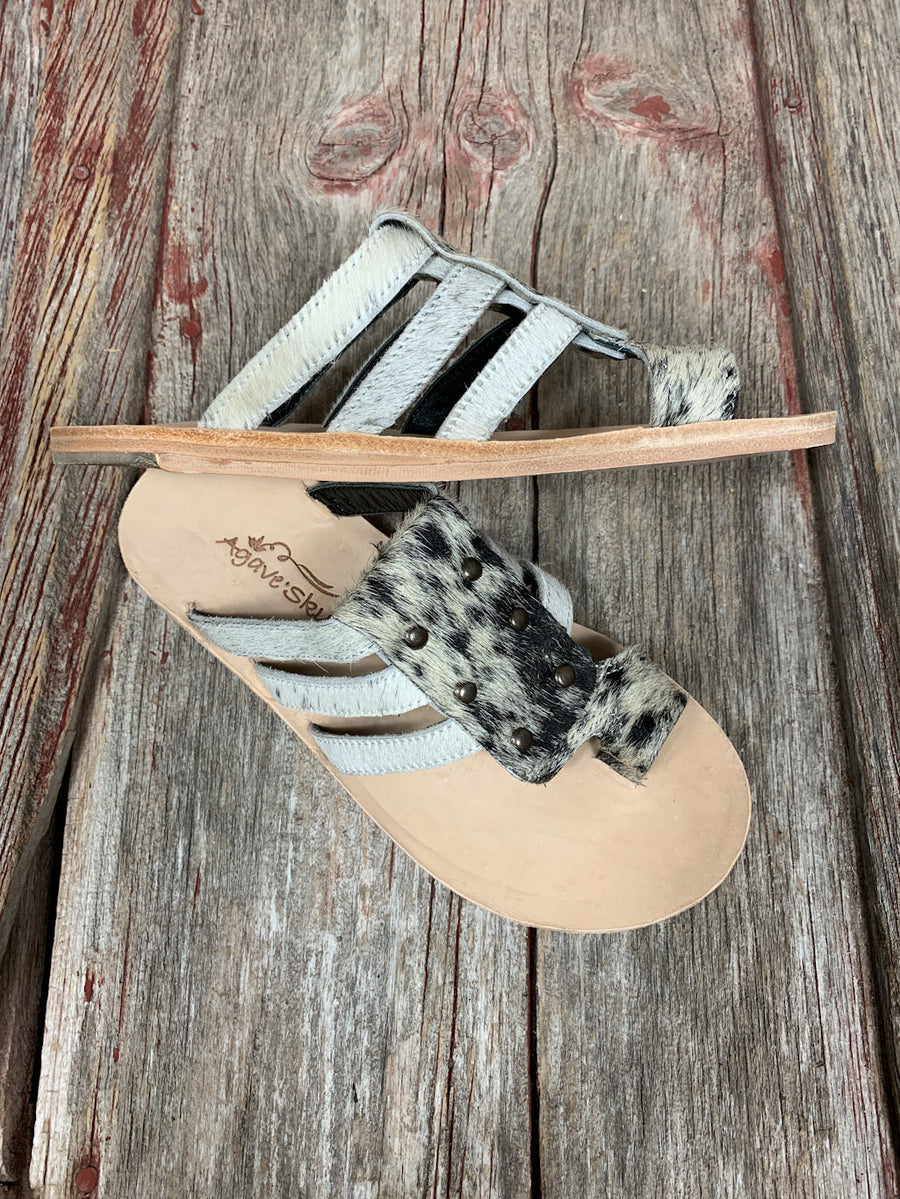 Cowhide Brandy Sandals