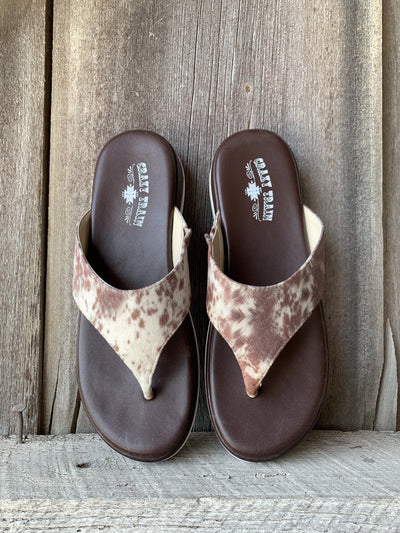 Houston Hide Cowhide Print Sandals