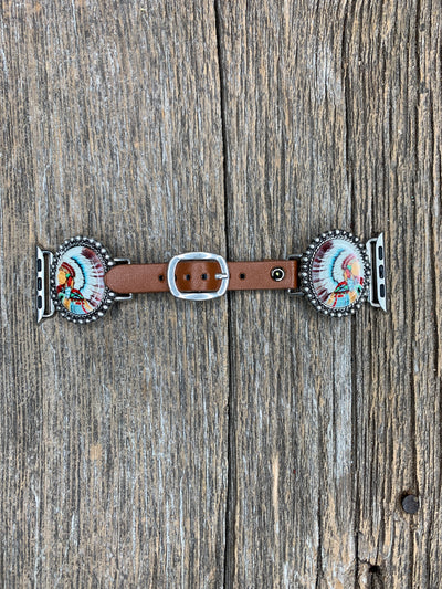 Native American Concho Apple Watch Band