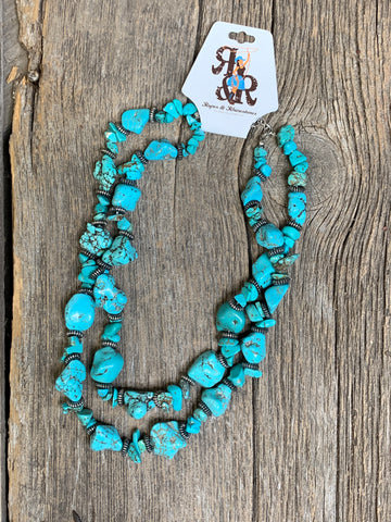 Double Trouble Turquoise Necklace Set
