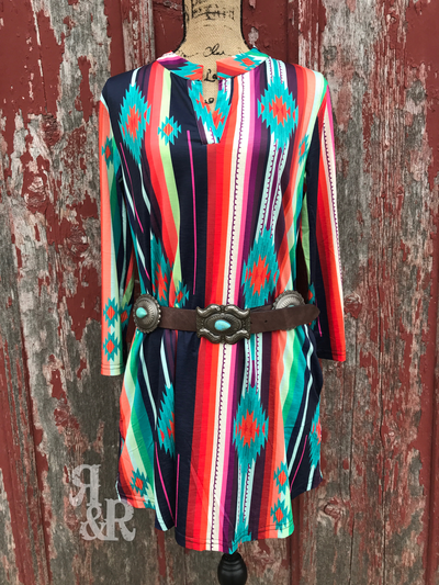 Serape Aztec Dress