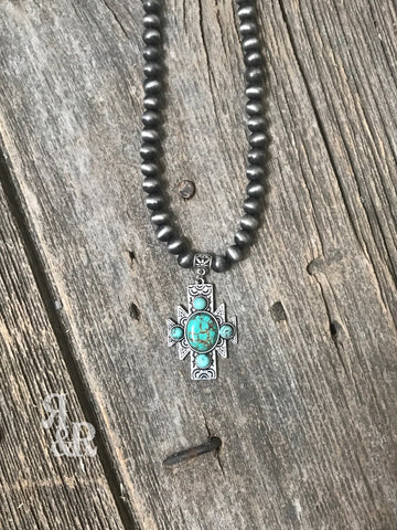 Aztec Turquoise Necklace - Ropes and Rhinestones